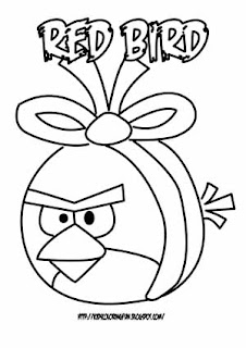 red bird coloring pages - photo#27