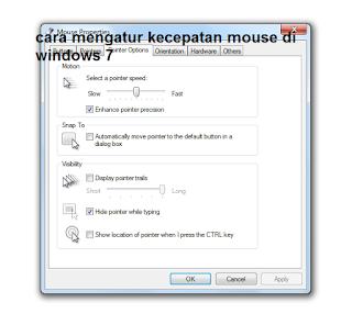 cara mengatur kecepatan mouse di windows 7