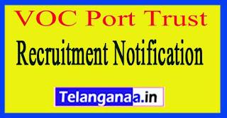 V O Chidambaranar VOC Port Trust Recruitment Notification 2017