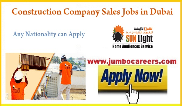 sales executive jobs for Indians, Recent jobs in Dubai July 2018,