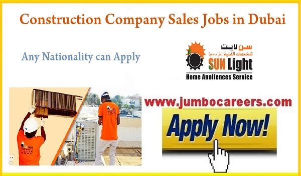 Construction Company Sales Executive Jobs In Dubai
