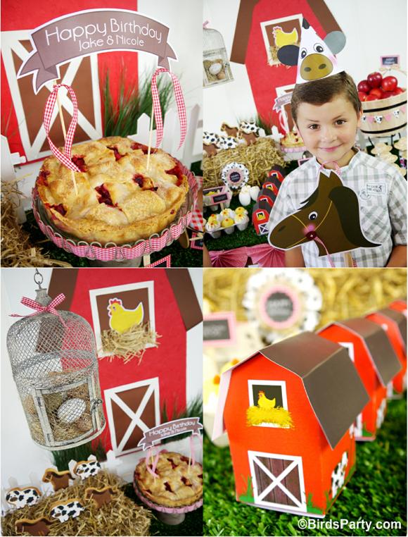 My Kids' Joint Barnyard Farm Birthday Party - Party Ideas ...