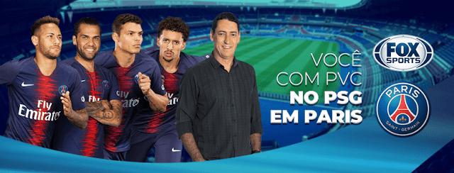Promoção Fox Sports e PSG: Você com PVC no PSG em Paris. Cadastre e concorra a 01 viagem para assistir ao PSG na final da Copa França! #FoxSports #PSG #futebol #mercadodabola #soccer #futebol