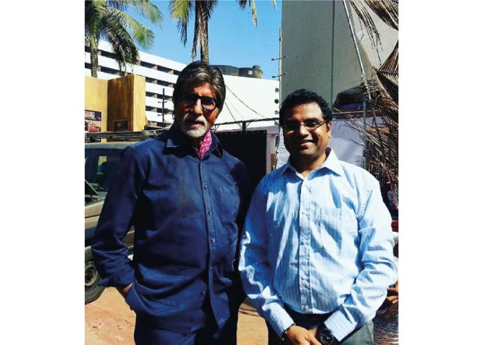 Krunal-Pandit-with-amitabh-bachchan