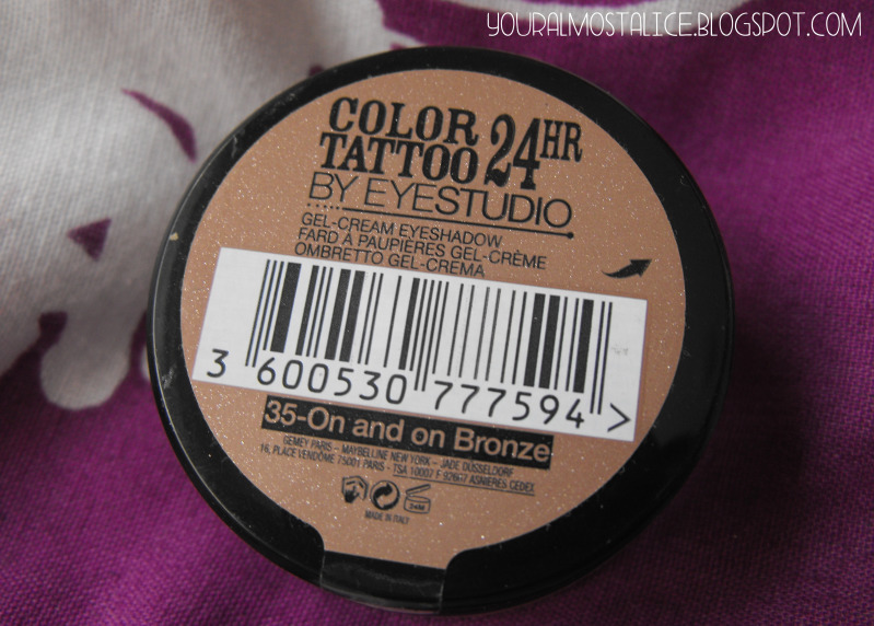 Maybelline 24Hr Colour Tattoo in On and On Bronze