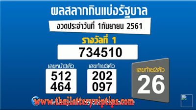 Thailand Lottery Live Results 01 September 2018  Saudi Arabia on TV