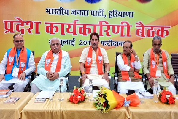 The BJP is engaged in creating opposition alliances with the people; Manohar Lal