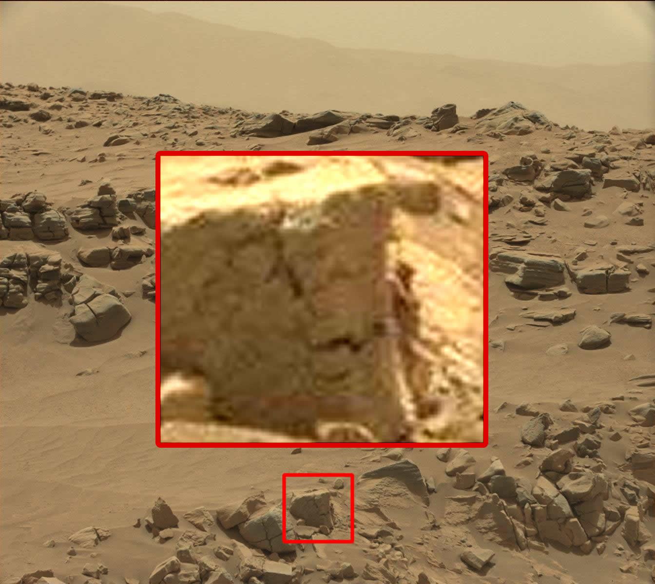 ¿Humanoide en imagen captada por Curiosity en Marte?