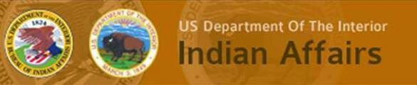 US Department of The Interior Bureau of Indian Affairs.