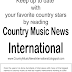 Country Music News International Newsletter March 22. 2017