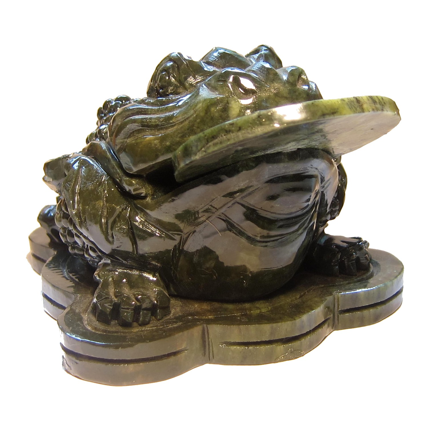jade frog with coin in mouth