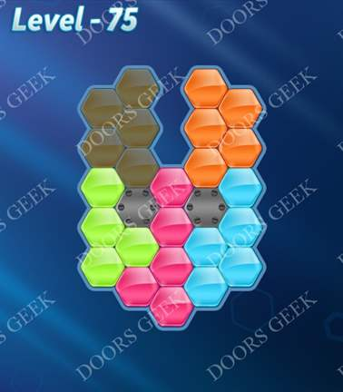 Block! Hexa Puzzle [5 Mania] Level 75 Solution, Cheats, Walkthrough for android, iphone, ipad, ipod