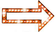 Seta luz laranja