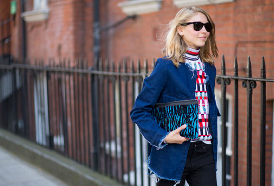 frayed denim trend