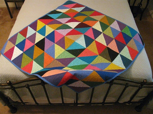 Half Square Triangle Quilt Free Pattern