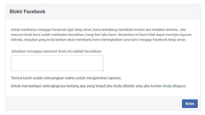 Cara Terbaru Mengatasi Blog Yang Diblokir Facebook