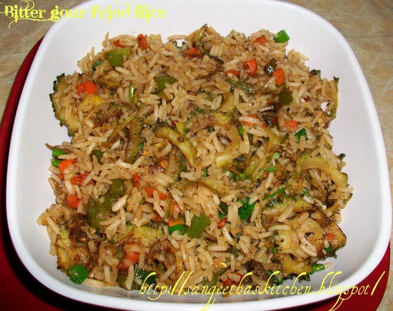Spicy Treats Bitter Gourd Fried Rice Karela