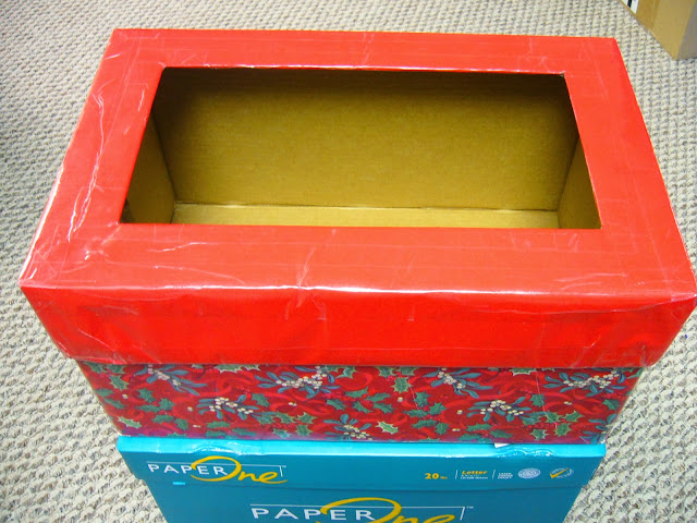 How to make an Operation Christmas Child filler collection box.