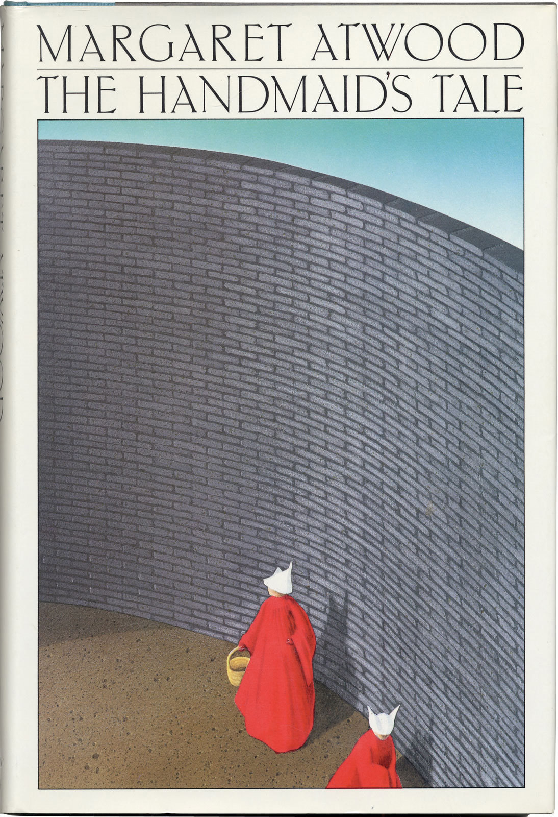 Book cover for Margaret Atwood's The Handmaid's Tale in the South Manchester, Chorlton, and Didsbury book group