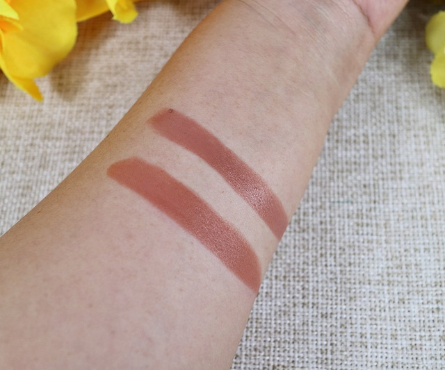 Swatch Lipstik Nude Pale Beige Favorit