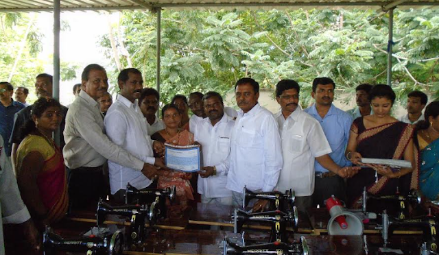Gangavaram Port distributes free sewing machines and certificates to women