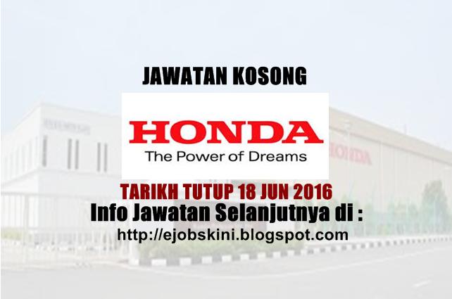 Jawatan Kosong Honda Malaysia Sdn Bhd