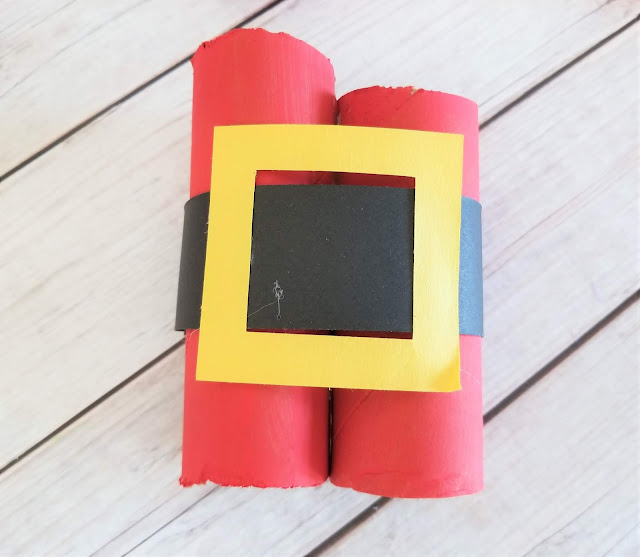 Toilet roll Santa craft