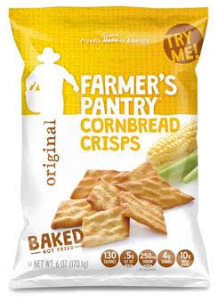 ENTER TO WIN A SAMPLE MULTI-PACK OF FARMER'S PANTRY CORNBREAD CRISPS