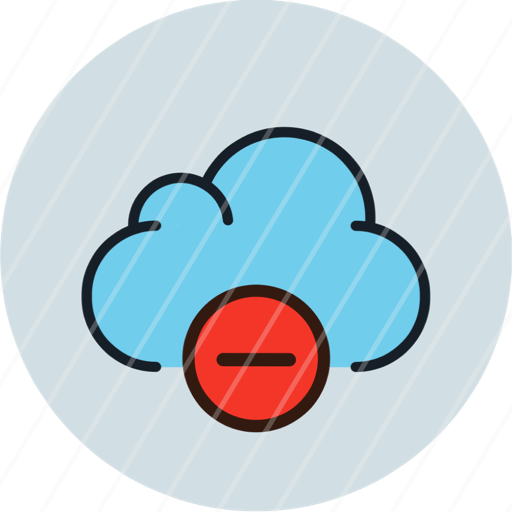 aprove check cloud data storage icon minus