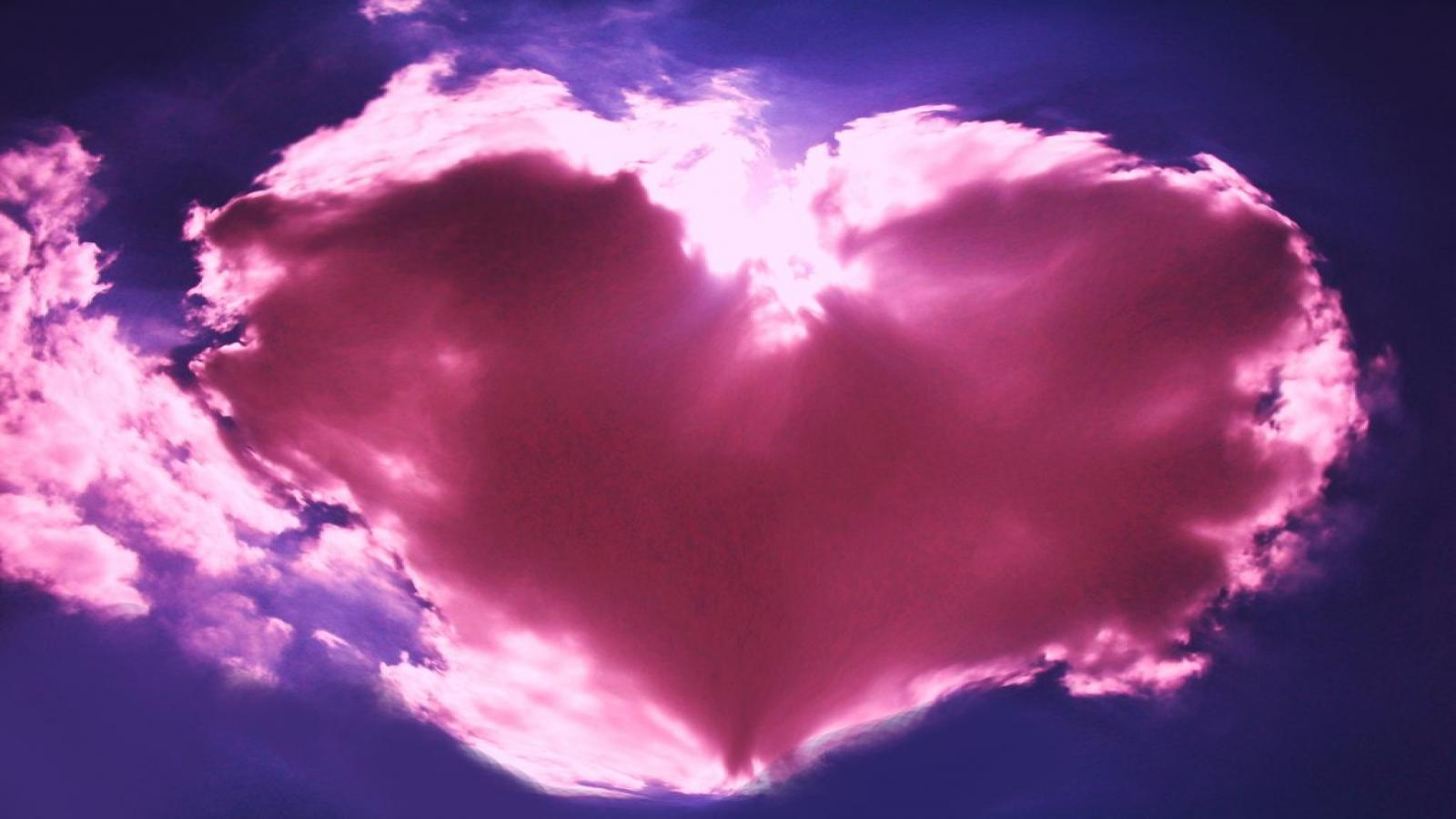 image de coeur nuage rose en forme de coeur. Black Bedroom Furniture Sets. Home Design Ideas