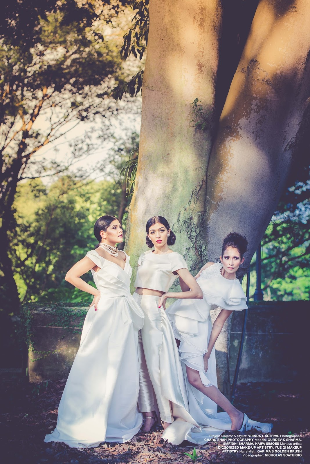 All White Fashion Editorial Makeover by Yue Qi Makeup Artistry
