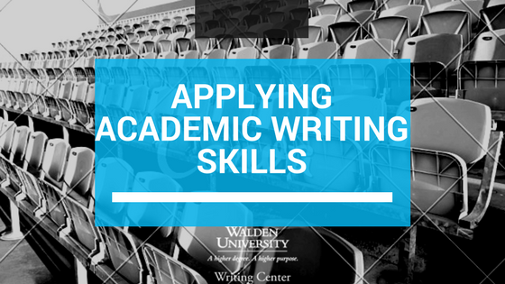 Applying academic writing skills image