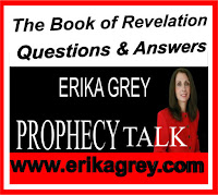 a graphic of The book of Revelation or the revelation, or book revelation featuring the logo of Erika Grey of Prophecy Talk