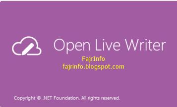 Windows Live Writer Menjadi Open Live Write