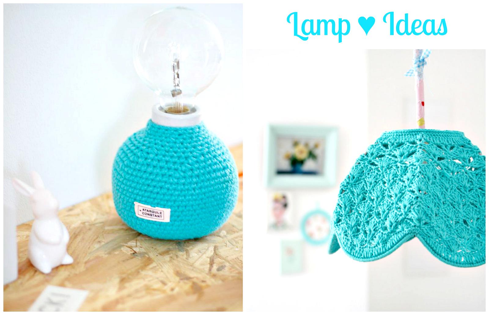 turkusowe lampy