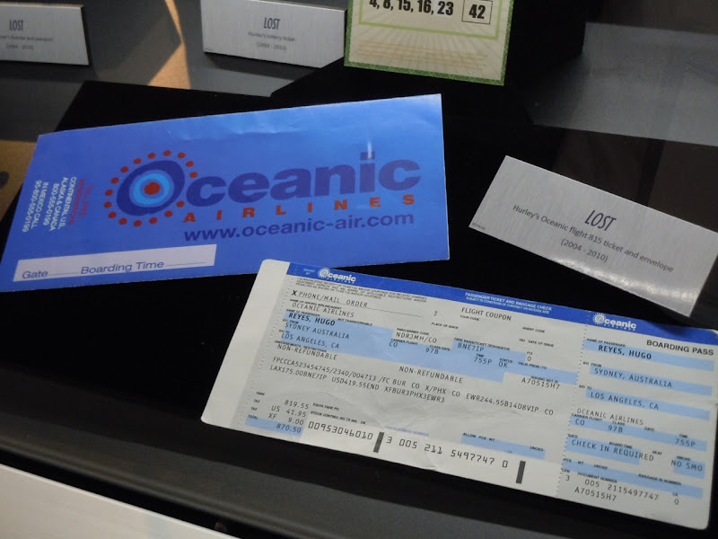 Hurley's Oceanic ticket LOST prop