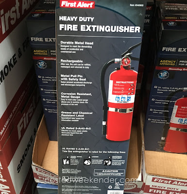 Keep your family safe with the First Alert Heavy Duty Fire Extinguisher FE3A40GRC