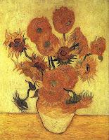Ван Гог. Ваза с пятнадцатью подсолнухами. Арль, январь 1889. Холст, масло, 101х77.