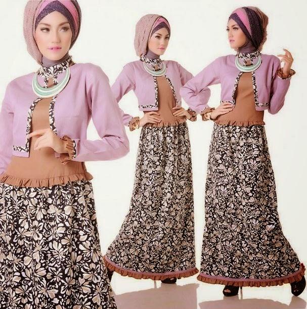 Foto model baju muslim remaja muslimah trendy terbaru
