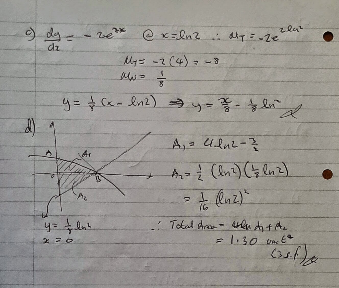 A Level Maths Notes: AQA Core 3 Winter 2007 Exam Paper