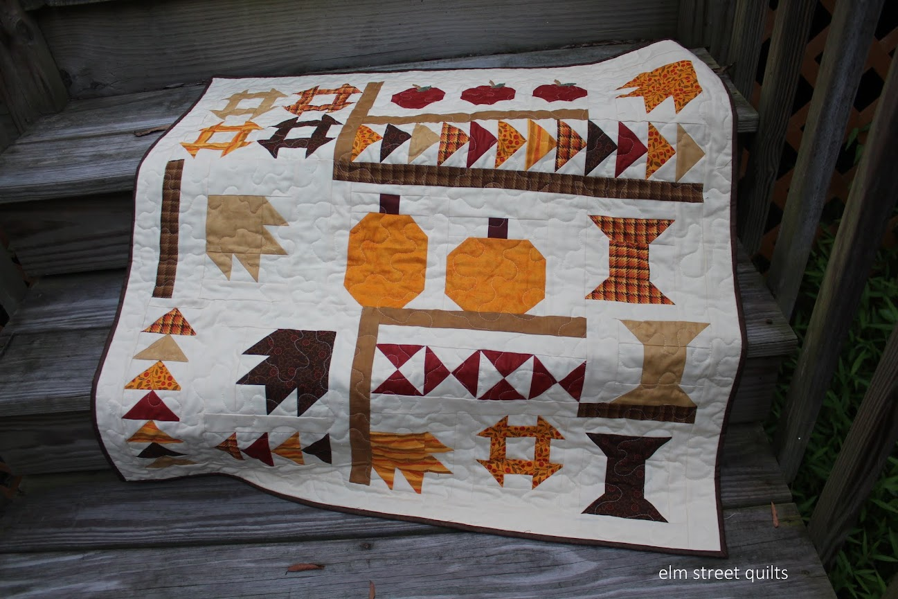 Fall wall hanging quilted