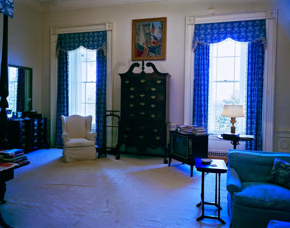 View Of President John F Kennedy S Rooms White House In 1962 Vintage Everyday