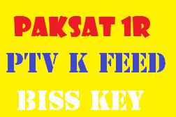 PTV K FEED New Biss Key ON Paksat 1R 38.0 E