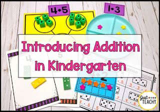 Introducing Addition in Kindergarten with activities and worksheets