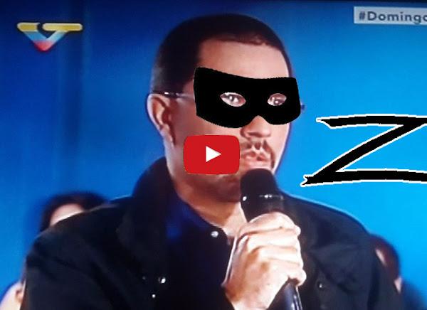 """Jorge Arreaza disfrazado de """"El Zorro"""" y con nuevo cargo"""