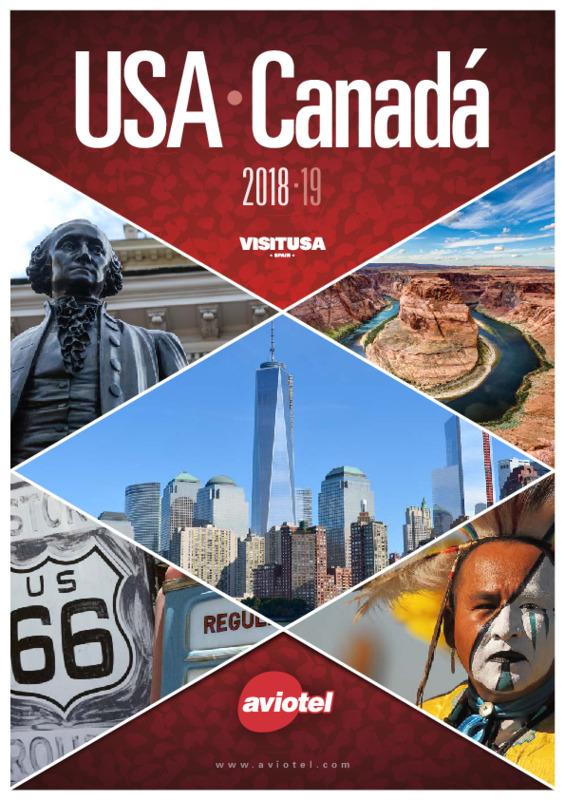 Catálogo Aviotel Circuitos América del Norte 2018-19