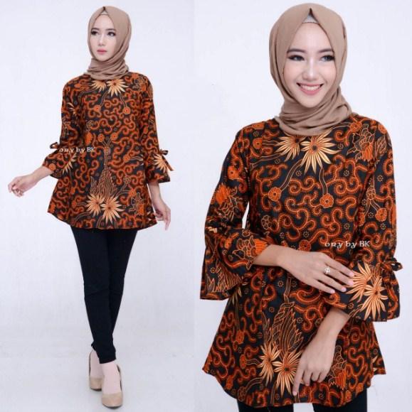 Contoh Model Baju Batik Muslim Terbaik
