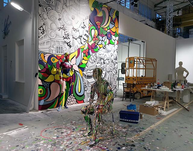 Ben Heine Art at Street Art show Magic City (2016) - Drawing and Painting - #magiccitylife Dresden