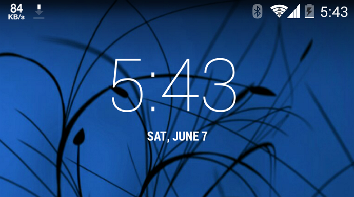 cara tampilkan kecepatan internet di status bar android