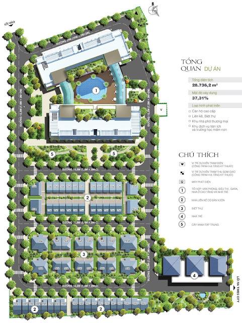 Sơ đồ tổng thể dự án Green Pearl 378 Minh Khai